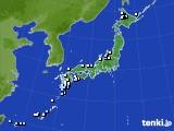 アメダス実況(降水量)(2016年10月23日)