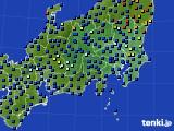 関東・甲信地方のアメダス実況(日照時間)(2016年10月23日)