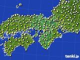 2016年10月24日の近畿地方のアメダス(気温)