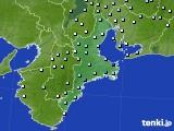 2016年10月25日の三重県のアメダス(降水量)