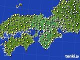 2016年10月25日の近畿地方のアメダス(気温)