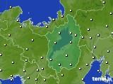 2016年10月25日の滋賀県のアメダス(気温)