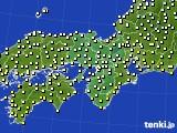 2016年10月29日の近畿地方のアメダス(気温)