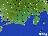 2016年11月17日の静岡県のアメダス(風向・風速)