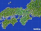2016年11月28日の近畿地方のアメダス(気温)