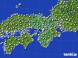 2016年11月29日の近畿地方のアメダス(気温)