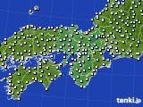 2016年11月30日の近畿地方のアメダス(気温)