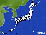 2016年12月01日のアメダス(風向・風速)