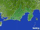 2016年12月05日の静岡県のアメダス(風向・風速)