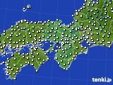 2016年12月09日の近畿地方のアメダス(気温)