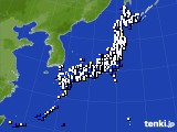 2016年12月09日のアメダス(風向・風速)