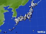 2016年12月10日のアメダス(風向・風速)