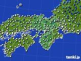 2016年12月11日の近畿地方のアメダス(気温)