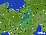 滋賀県のアメダス実況(風向・風速)(2016年12月11日)