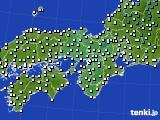 2016年12月12日の近畿地方のアメダス(気温)