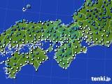 2016年12月16日の近畿地方のアメダス(気温)