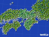2016年12月17日の近畿地方のアメダス(気温)