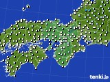 2016年12月18日の近畿地方のアメダス(気温)