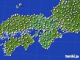 2016年12月19日の近畿地方のアメダス(気温)