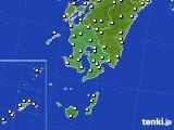2016年12月19日の鹿児島県のアメダス(気温)