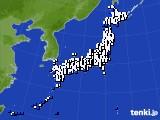 2016年12月21日のアメダス(風向・風速)