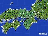 2016年12月23日の近畿地方のアメダス(気温)