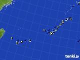 2016年12月23日の沖縄地方のアメダス(風向・風速)