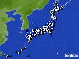 2016年12月23日のアメダス(風向・風速)