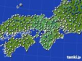 2016年12月24日の近畿地方のアメダス(気温)
