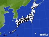 2016年12月24日のアメダス(風向・風速)