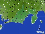 2016年12月25日の静岡県のアメダス(風向・風速)