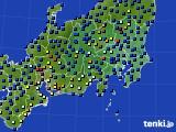 関東・甲信地方のアメダス実況(日照時間)(2016年12月27日)