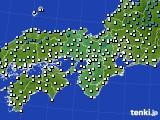 2016年12月27日の近畿地方のアメダス(気温)