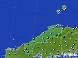 島根県のアメダス実況(気温)(2016年12月27日)