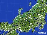 北陸地方のアメダス実況(風向・風速)(2016年12月27日)