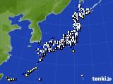 アメダス実況(風向・風速)(2016年12月27日)