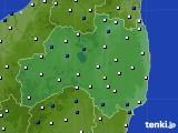 福島県のアメダス実況(風向・風速)(2016年12月27日)