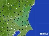 茨城県のアメダス実況(風向・風速)(2016年12月27日)