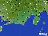 2016年12月27日の静岡県のアメダス(風向・風速)