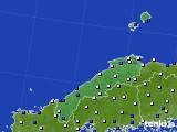 島根県のアメダス実況(風向・風速)(2016年12月27日)