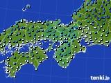 2016年12月28日の近畿地方のアメダス(気温)