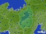 2016年12月28日の滋賀県のアメダス(気温)