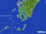 2016年12月29日の鹿児島県のアメダス(気温)