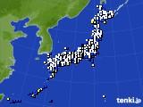 2016年12月29日のアメダス(風向・風速)
