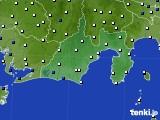 2016年12月30日の静岡県のアメダス(風向・風速)