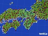 近畿地方のアメダス実況(日照時間)(2016年12月31日)