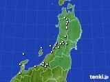2017年01月01日の東北地方のアメダス(降水量)