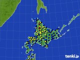 2017年01月01日の北海道地方のアメダス(積雪深)