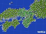 近畿地方のアメダス実況(風向・風速)(2017年01月01日)