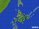 北海道地方のアメダス実況(積雪深)(2017年01月02日)